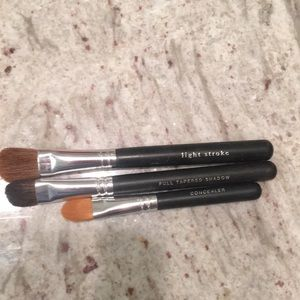 Set of three bare minerals eye makeup brushes